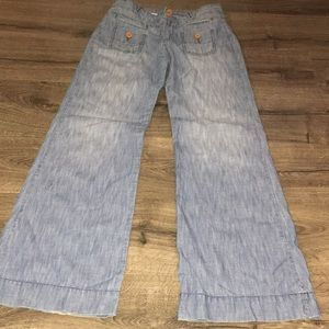 Anthropologie Pilcro wide leg jeans size 27